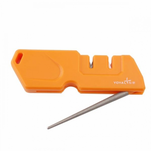 Taidea outdoor sharpener for plain and serrated blades.